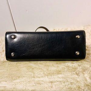 Bags - Black white striped small polka dot interior EUC